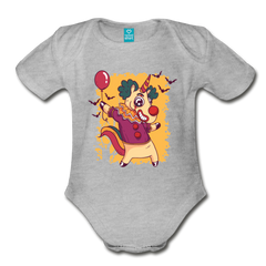 Bodysuit | unicorn clown-Organic Short Sleeve Baby Bodysuit-get2shirts