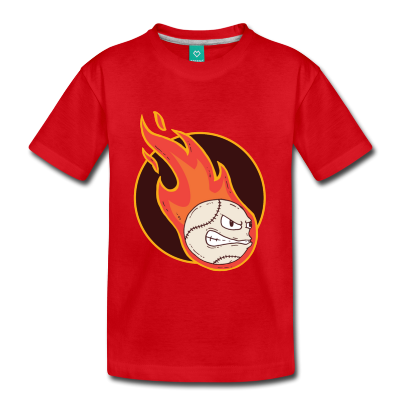 T-Shirt | Fire Baseball-Kids' Premium T-Shirt-get2shirts
