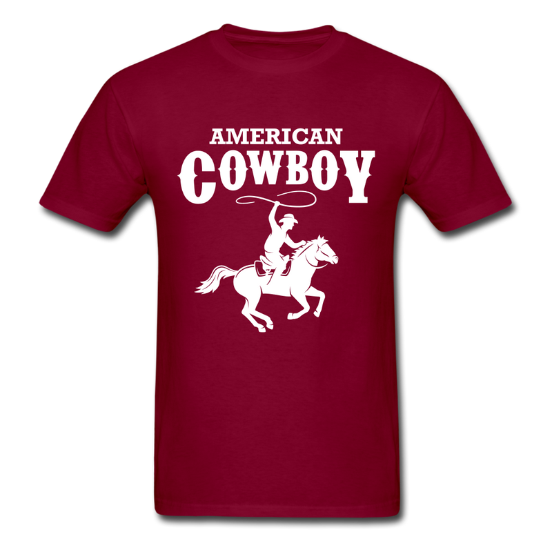 American Cowboy Western Shirt Southern Rodeo Tradit Country Gift Tee-Men's T-Shirt-get2shirts