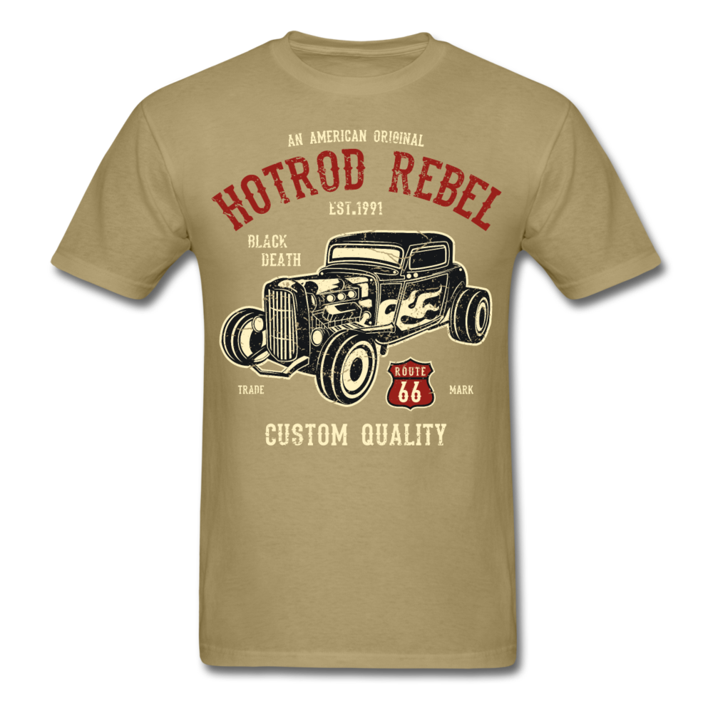 Hot Rod Rebel Route 66 | Men's T-Shirt-Men's T-Shirt-get2shirts