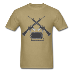 Army Crossed Guns Men Black White Regular Shirt S-6XL-Men's T-Shirt-get2shirts