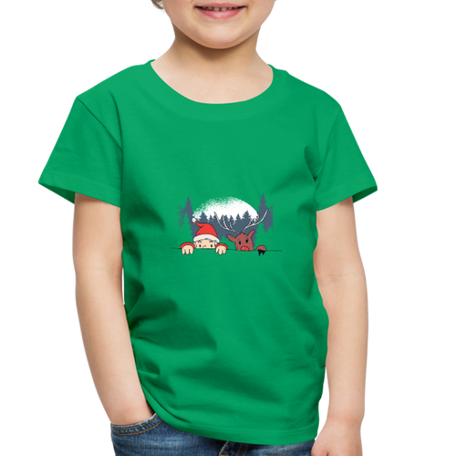 Santa Reindeeer | Toddler Premium T-Shirt - kelly green