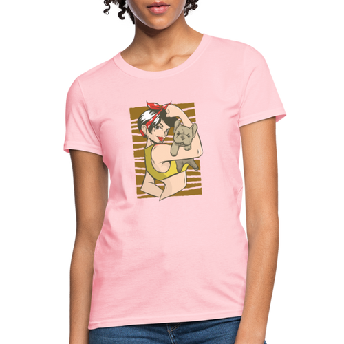 Women's T-Shirt | Pin Up Bull Dog - pink