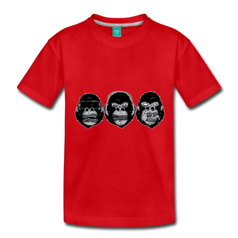 T-Shirt | 3 monkeys-Kids' Premium T-Shirt-get2shirts