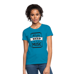 T-Shirt | All you need is music - get2shirts