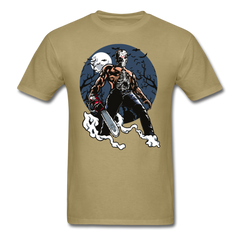 Halloween Killer with chainsaw and mask | Men's T-Shirt-Men's T-Shirt-get2shirts