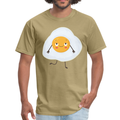 Fried egg with face | Men's T-Shirt-Men's T-Shirt-get2shirts