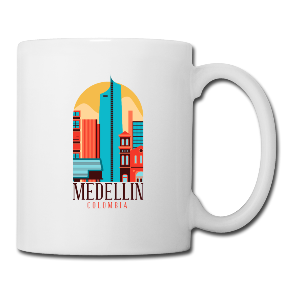 Medellin Skyline Columbia | Coffee/Tea Mug-Coffee/Tea Mug-get2shirts
