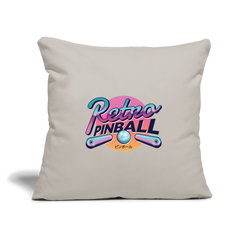 "Pillow | Retro Flipper Pinball Game-Throw Pillow Cover 18"" x 18""-get2shirts"