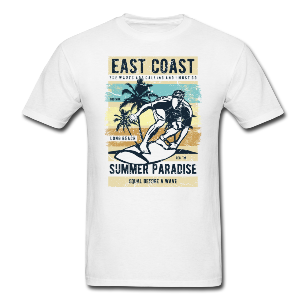 Surfing East Coast - Summer Paradies | Men's T-Shirt-Men's T-Shirt-get2shirts