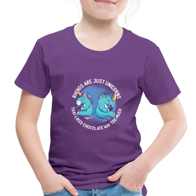 Rhinos are Unicorn | Toddler Premium T-Shirt - purple