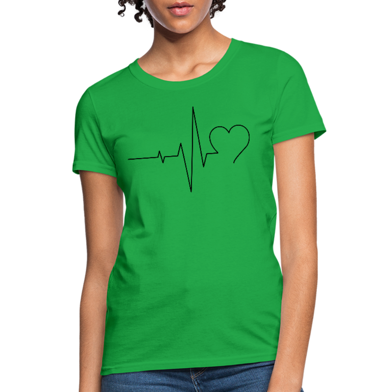 T-Shirt | ECG heart-Women's T-Shirt-get2shirts