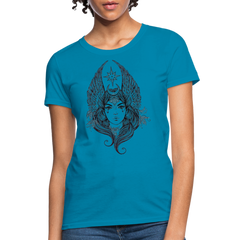 Angel Portrait Women Top T-Shirt-Women's T-Shirt-get2shirts
