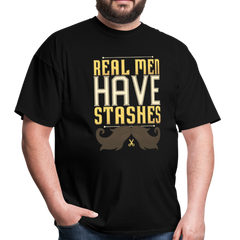 Real Men Have Stashes | Men's T-Shirt-Men's T-Shirt-get2shirts