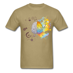 Brain Map | Men's T-Shirt-Men's T-Shirt-get2shirts
