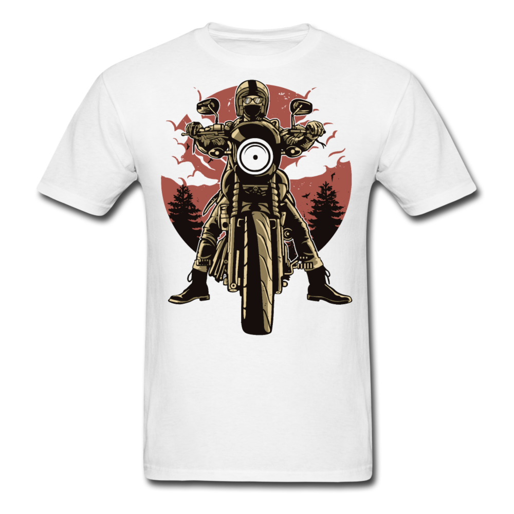 T-Shirt | Motorcycle born to ride - white