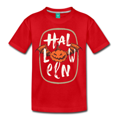Halloween Bat Pumpkin | Kids' Premium T-Shirt - get2shirts