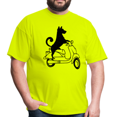 dog moped | Men's T-Shirt-Men's T-Shirt-get2shirts