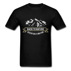 Mountain Adventure Waiting - Back to nature | Men's T-Shirt-Men's T-Shirt-get2shirts