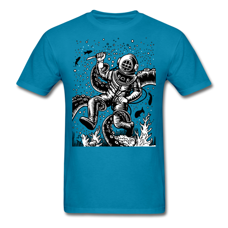 Retro Underwater Adventurer | Men's T-Shirt-Men's T-Shirt-get2shirts