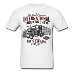 American Truck Show Men Black White Regular Shirt S-6XL-Men's T-Shirt-get2shirts