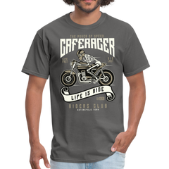 Motorcycle Speed of Caferacer | Men's T-Shirt-Men's T-Shirt-get2shirts