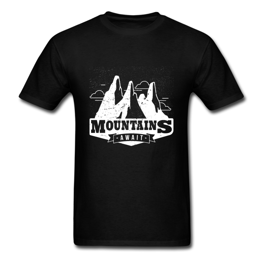 Mountains Await | Men's T-Shirt-Men's T-Shirt-get2shirts