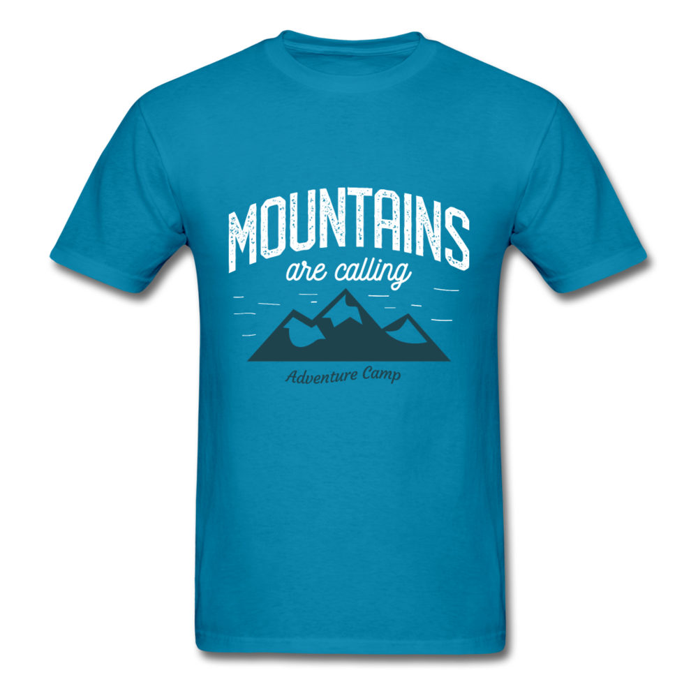 mountains are calling - adventure camp | Men's T-Shirt-Men's T-Shirt-get2shirts