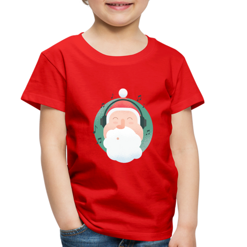 Santa Headphones Music | Toddler Premium T-Shirt - red
