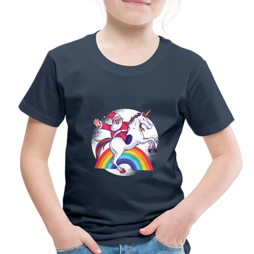 Santa unicorn | Toddler Premium T-Shirt - navy