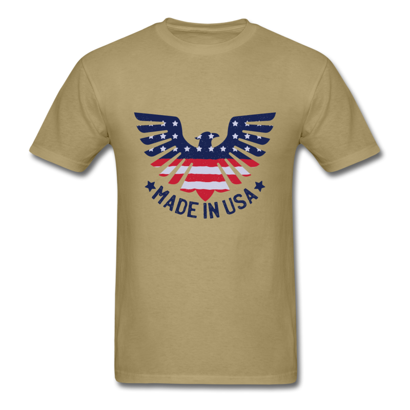 Eagle & Flag - Made In USA | Men's T-Shirt-Men's T-Shirt-get2shirts
