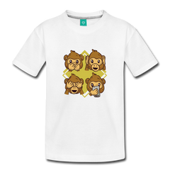 T-Shirt | 4 funny monkeys-Kids' Premium T-Shirt-get2shirts