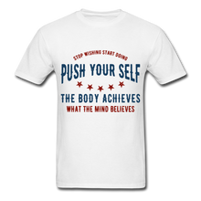 Load image into Gallery viewer, T-Shirt | Gym Push your self - white