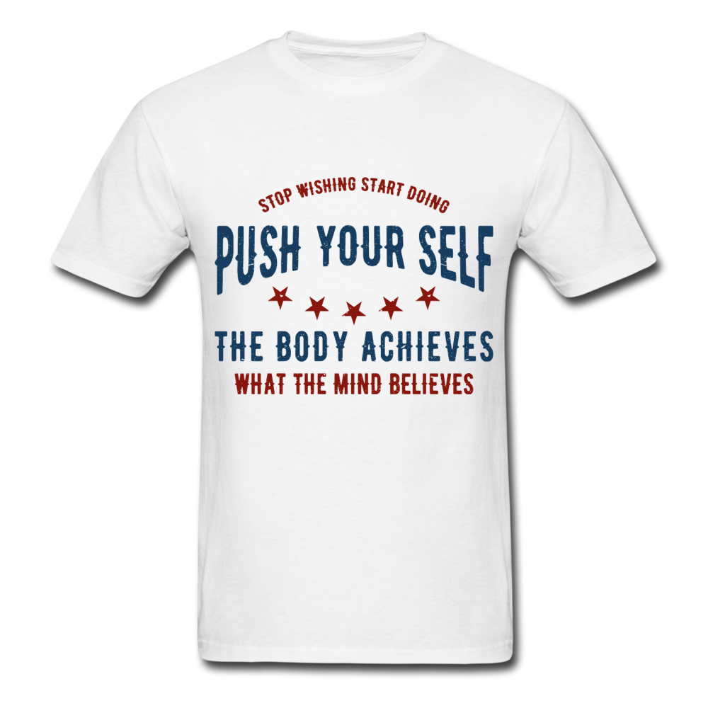 T-Shirt | Gym Push your self - white