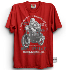 Motorcycle Rebellion Club Rider Biker Lifestyle Men's T-Shirt-Men's T-Shirt-get2shirts