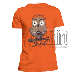Owl Powered by Caffeine Funny Tee Men's T-Shirt