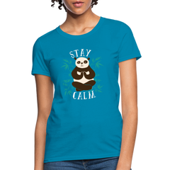 T-Shirt | Stay Calm Panda-Women's T-Shirt-get2shirts