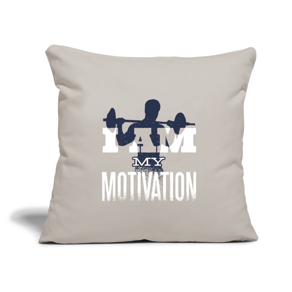 "Pillow | I am my motivation-Throw Pillow Cover 18"" x 18""-get2shirts"