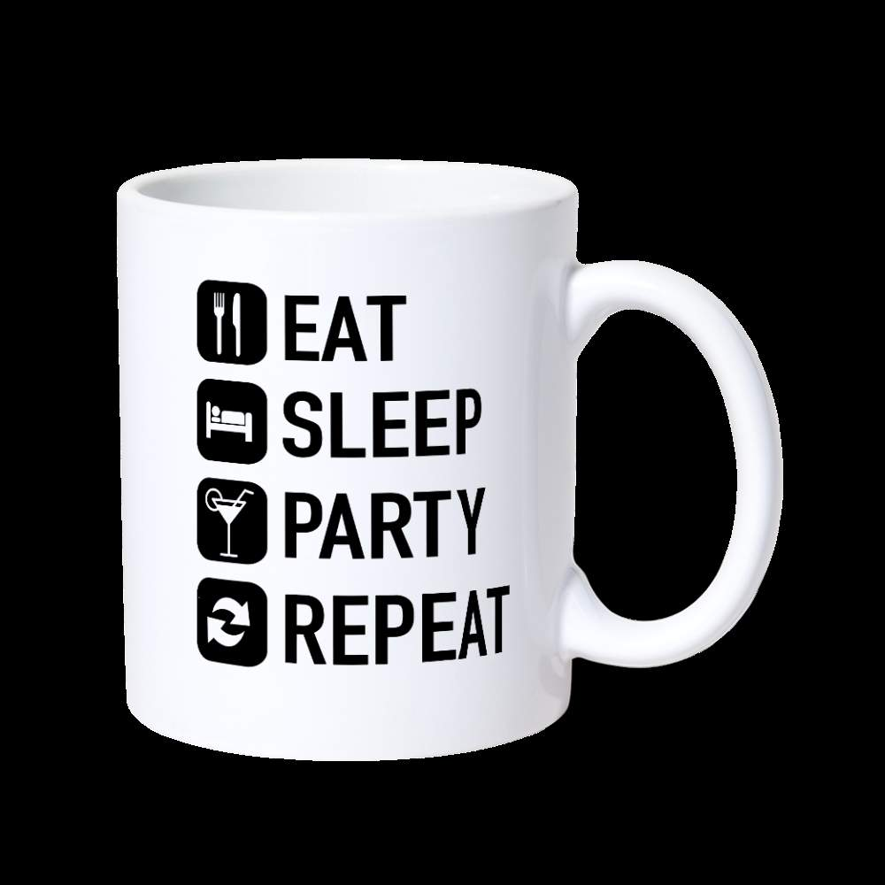 Mug | eat sleep party repeat