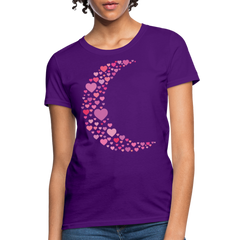 T-Shirt | Moon & Hearts-Women's T-Shirt-get2shirts
