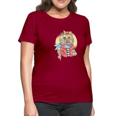 T-Shirt | Watercolor Cat-Women's T-Shirt-get2shirts