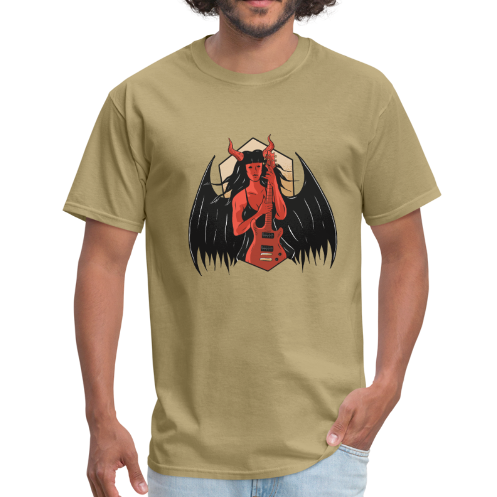 Demon Girl With Guitar | Men's T-Shirt - get2shirts