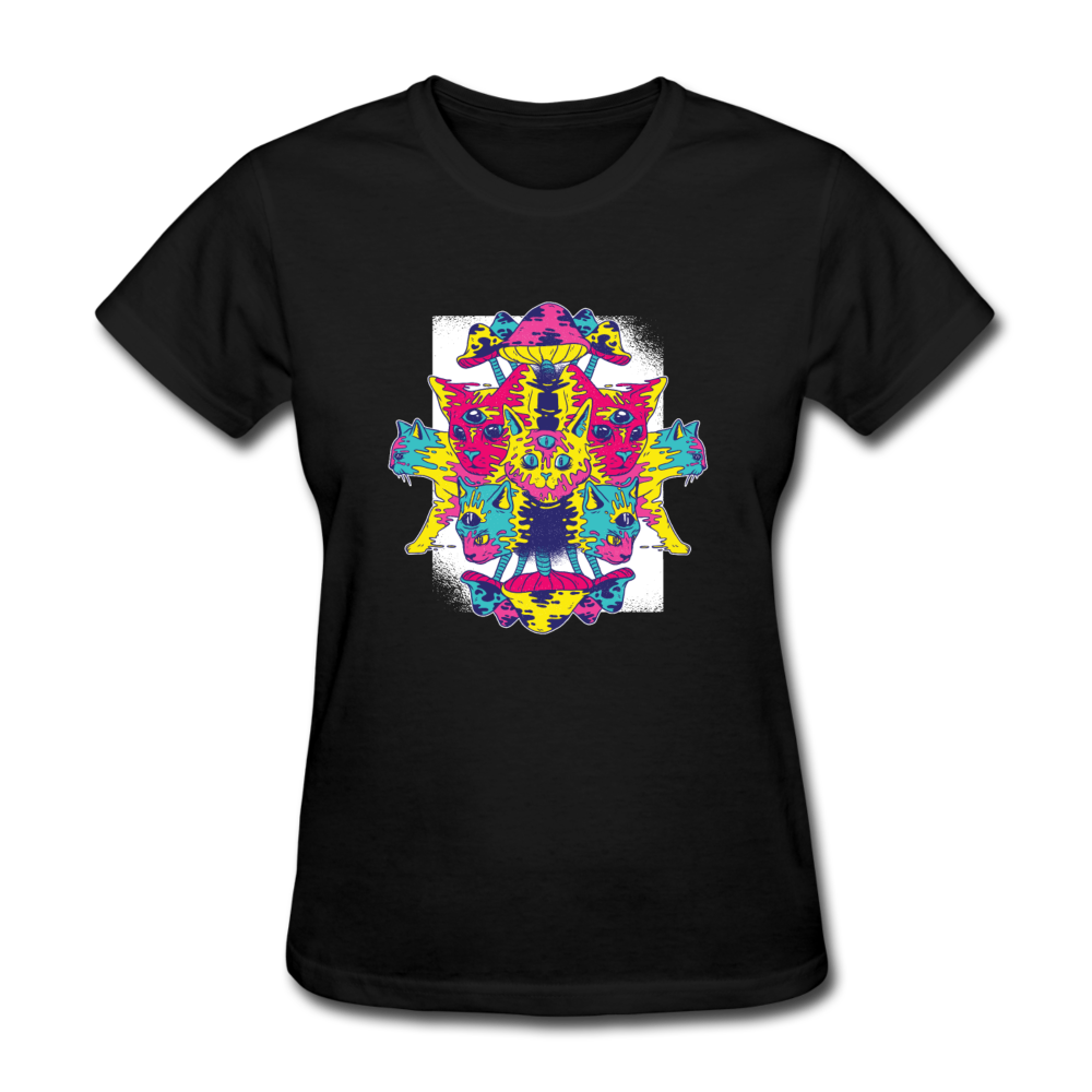 T-Shirt | Cat psychedelic-Women's T-Shirt-get2shirts