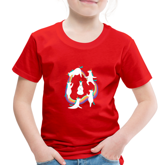 Unicorn Yoga | Toddler Premium T-Shirt - red