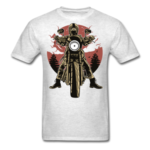 T-Shirt | Motorcycle born to ride - light heather grey