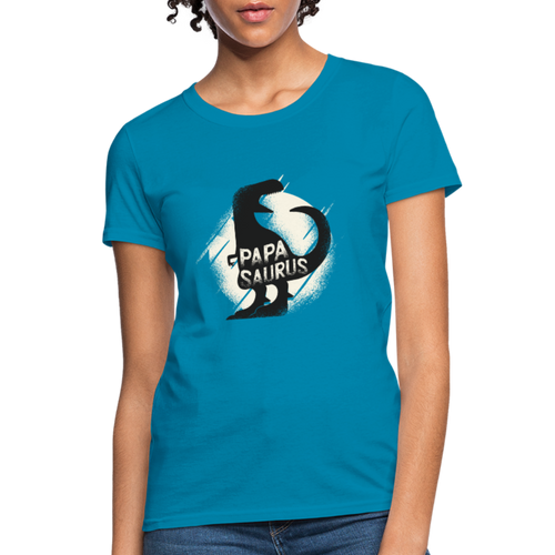 T-Shirt | Papa is Papasaurus - turquoise