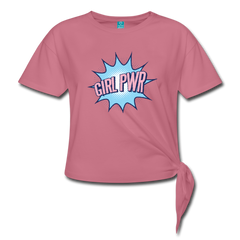 T-Shirt | Girl Power-Women's Knotted T-Shirt-get2shirts