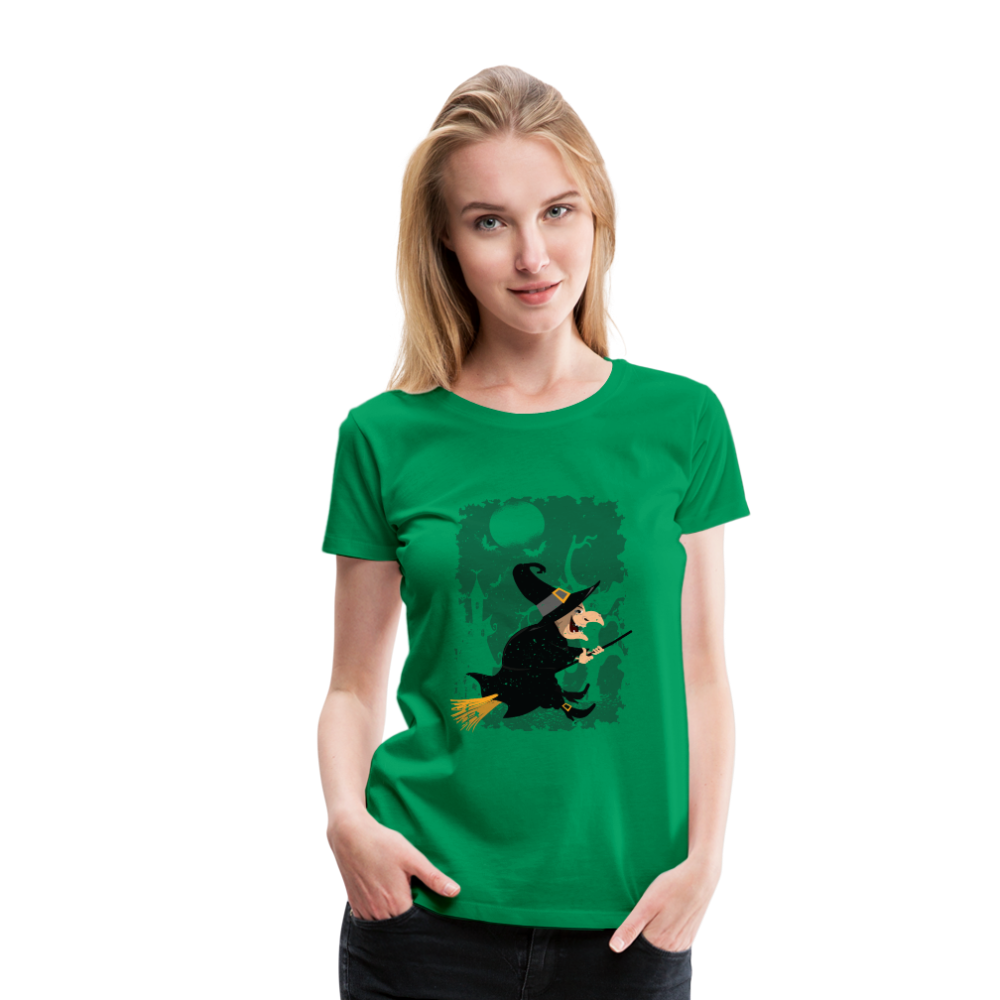 T-Shirt | witch on broom-Women's Premium T-Shirt-get2shirts