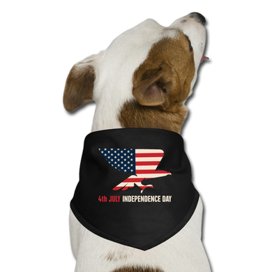 4th JULY USA | Dog Bandana - black