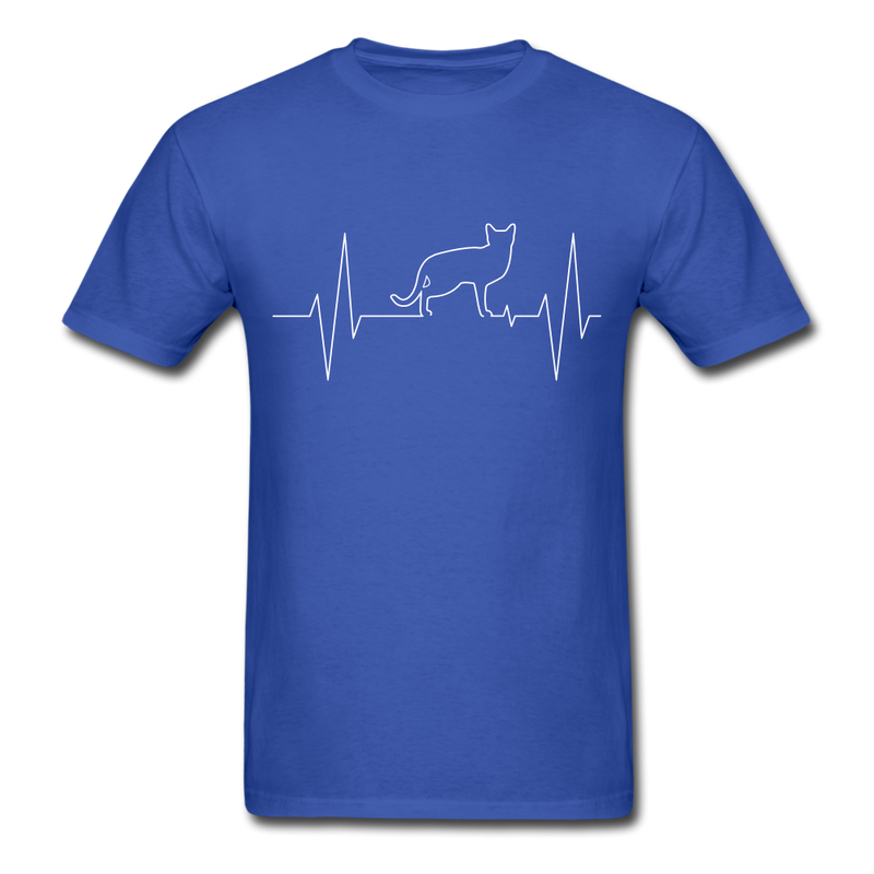 ECG Cat | Men's T-Shirt-Men's T-Shirt-get2shirts
